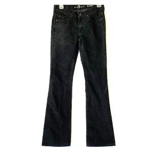 7 For All Mankind Sz 27 Black Bootcut Denim Jeans